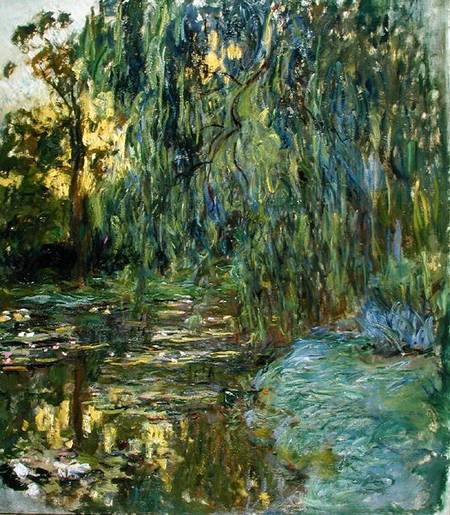Claude Monet Salice piangente - Il ponte giapponese a Giverny